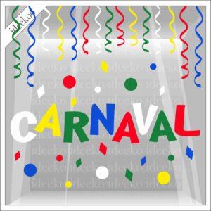 Carnaval slingers confetti sticker raamsticker carnaval