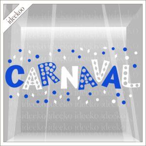 carnaval sticker, carnavalssticker, herbruikbare raamsticker carnaval, zandhazendurp, zandhazen, birrekoal