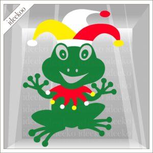 carnaval sticker, raamsticker oeteldonk, carnavalsticker, herbruikbaar vinyl, carnavalversiering, kikker oeteldonk